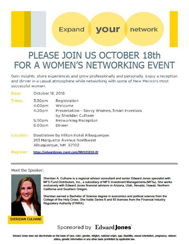 Women's Networking & Investment - Edgewood Chamber of Commerce