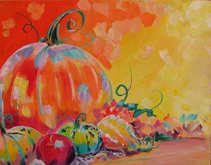 "Paint a ""Gourd-ish"" Masterpiece — Oct 28 — Fall Paint Party"