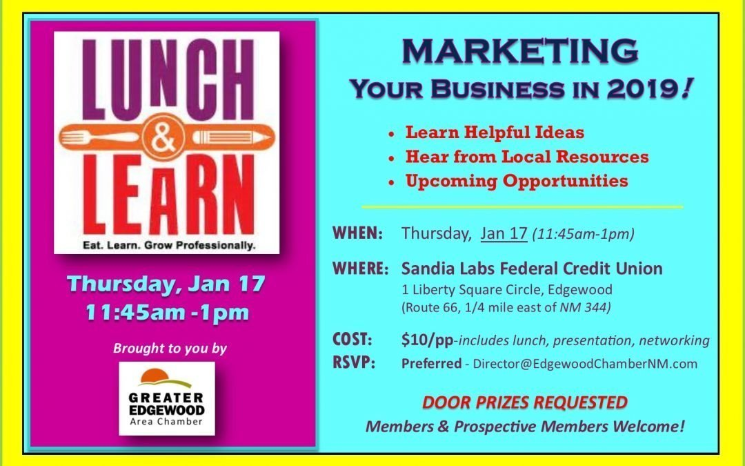 3rd Thurday Networking – Focus on Marketing Your Business