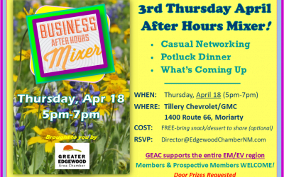 After Hours Mixer — April 18 — Tillery in Moriarty