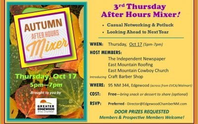 "Autumn ""After Hours"" Mixer — Thursday, Oct 17"