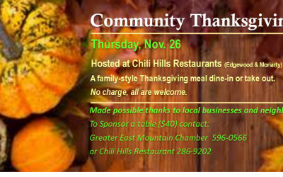 Community Thanksgiving – Nov. 26, 2020