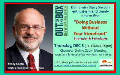 Lunch Meeting Guest Speaker — Stacy Sacco — Dec 3