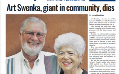 With Sadness and Gratitude. We Mourn Art Swenka's Passing